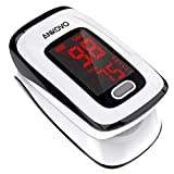 Pulse Oximeter Fingertip (Oximetro), ANKOVO Blood Oxygen Saturation Monitor, Heart Rate Monitor and...