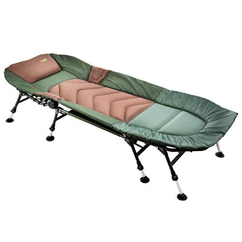 MK-Angelsport ' 8 Bein Karpfenliege bis 150kg belastbar - Angelliege Bedchair Gartenliege Liege Modell 2020
