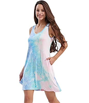 ☆Pay Attention: Since this dress used the unique personality fabric printing and dyeing technology, so the actual effect of each dress is not completely the same with display picture. ☆Tie dye summer dresses: soft, breathable and stretchy, comfortabl...