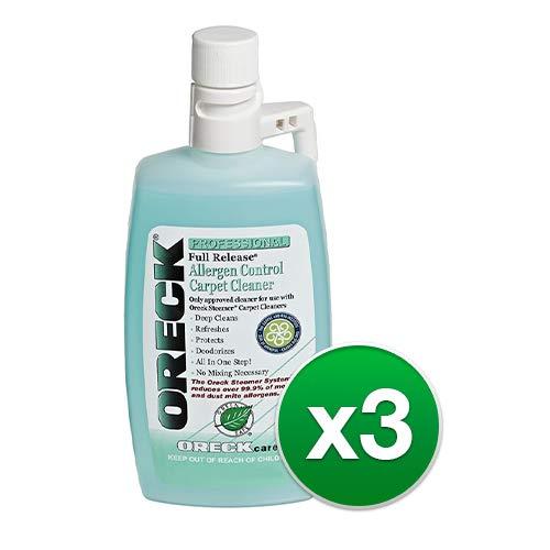 Oreck 40257-01 Full Release Allergen Control Carpet Cleaner with Bundles (Oreck Cleaner (3 Pack))
