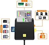 Lecteur de Carte à Puce, USB SD/Micro SD (TF) SIM Adaptateur de Carte, DOD...