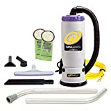 ProTeam Backpack Vacuums, Super QuarterVac Commercial Backpack Vacuum Cleaner with HEPA Media Filtration and 2-Piece Wand Tool Kit, 6 Quart, Corded
