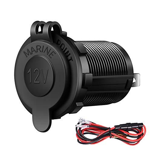 Cigarette Lighter Socket Car Marine Motorcycle ATV RV Lighter Socket Power Outlet Socket Receptacle 12V Waterproof Plug by ZHSMS