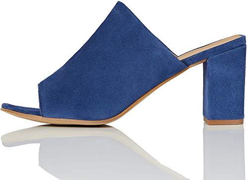 find. Mules Mujer, Azul (Blue), 37 EU