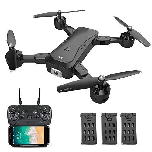 Telecamera Wifi per Videosorveglianza F88 RC Drone con doppia fotocamera 1080P Immagine Segui ottico Flusso Posizionamento APP Gesto di controllo pieghevole Quadcopter Drone for adulti Funzioni Rileva