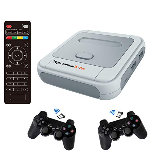 Super Console X PRO 256GB Retro Game Console Built-in 50,000+ Games,Dual Systems,Gaming Consoles for 4K TV HD Output,2 Controllers,Support NES/N64/PS1/PSP,WiFi/LAN,Gifts for Best Friend (PRO-256GB)