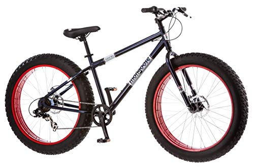 Product Image 7: Mongoose Dolomite Mens Fat Tire Mountain Bike, 26-inch Wheels, 4-Inch Wide Knobby Tires, 7-Speed, Steel Frame, Front and Rear Brakes, Navy Blue