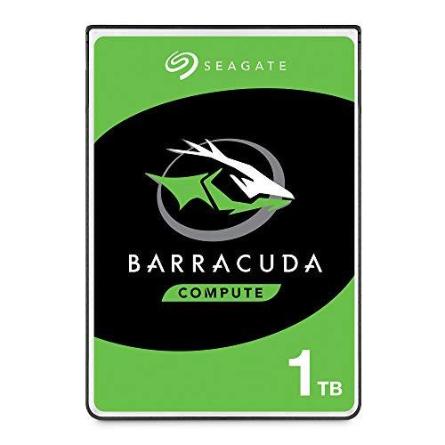 Seagate BarraCuda, 1 TB, Disco duro interno, HDD, 2,5' SATA 6 GB/s, 5400 RPM, caché de 128 MB para ordenador portátil y PC (ST1000LM048)
