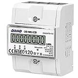 Orno WE-520 Compteur D'électricité Affichage Triphasé De La Consommation...
