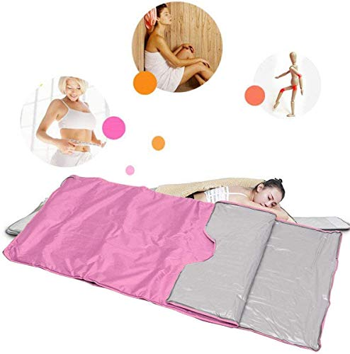 INLOVEARTS Far-Infrared (FIR) Sauna Blanket, 2 Zone Weight Loss Body Shaper Professional Detox Therapy Anti Ageing Beauty Machine (with Remote Control) 6