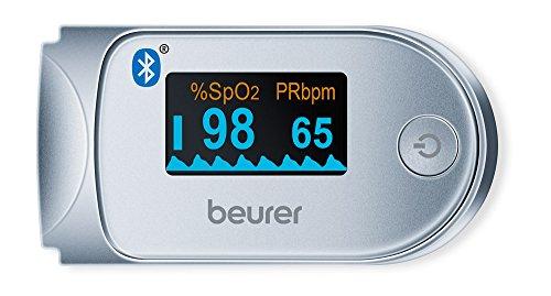 Beurer saturatiemeter   Via Bluetooth worden de waarden naar de HealthManager App gestuurd   6 weergavemodi   Automatische uitschakeling