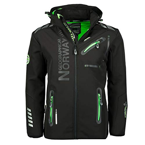 Geographical Norway, giacca softshell, da uomo per attivit all'aperto, Turbo-dry, impermeabile Nero...