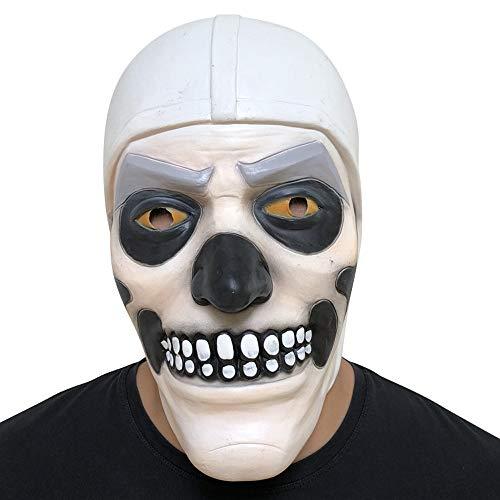 Skull Trooper Cosplay Máscara Fiesta de Halloween Terror Mask Latex Scary Casco Mascarada Carnaval Atrezzo Disfraces Accesorios
