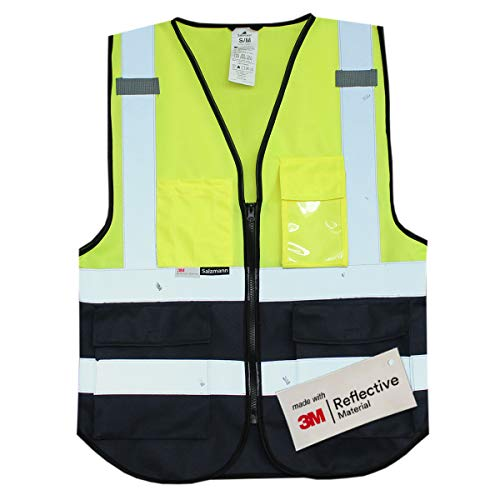 Salzmann Multi-Pocket Safety Mesh Vest | High Visibility Reflective Mesh...