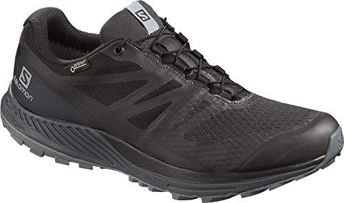 Salomon Women's Trail Running Shoes, Sense Escape 2 GTX W, Black/Ebony/Lead, Size: 3.5
