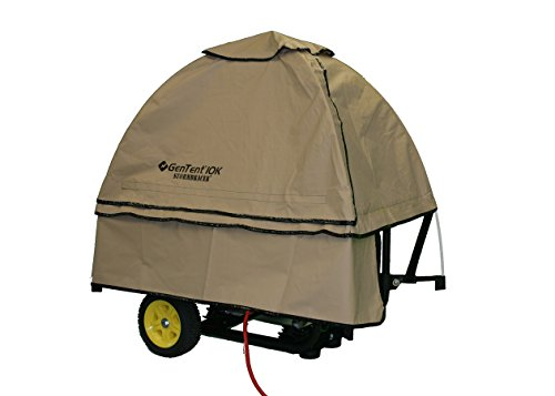 GenTent 10k Generator Tent Running Cover - Universal Kit (Standard, TanLight) - Compatible with 3000w-10000w Portable Generators