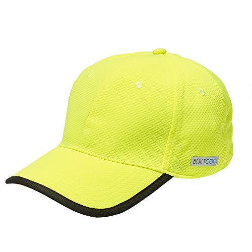 BUILTCOOL Adult Baseball Hat – Men & Women Ball Cap, One Size, Safety Yellow
