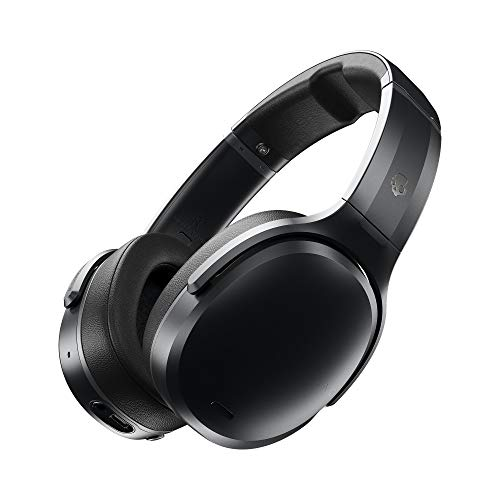 Skullcandy Crusher ANC Bluetooth Wireless Over-Ear Headphones, Noise Cancellation, Adjustable Bass, and Personalised Sound, Up to 24 Hours Battery Life - Black