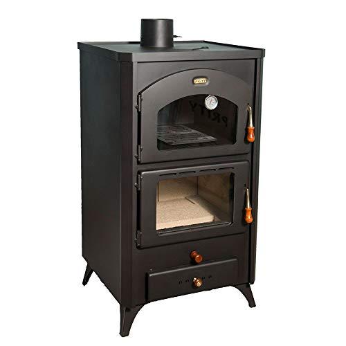 Poêle à Bois Prity 14 Kw avec un Four & Pieds Brûleur Foyer Chauffage au