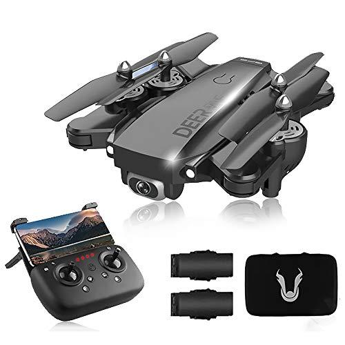 SLCE Drone GPS Telecamera 4K HD Drone Professionale con 120Grandangolare Regolabile, 5G WiFi 1.5Km Video Live, Quadricottero RC con Ritorno Home, Seguimi, Volo Circolare, per I Principianti,Nero