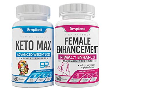 Amplicell Female Enhancement - Libido Booster for Women (60caps) and Advanced Keto Pills BHB Ketosis Diet for Women (60caps) 1