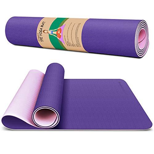 Dralegend Yoga Mat for Women & Men Exercise Gym Mat, Non-Slip High Density and TPE Eco-Friendly 6mm Workout Mat for Yoga, Hot Yoga, Pilates & Floor Exercise, 183 x 66 x 0.6cm, 11 colors