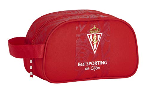 Mochila Escolar Infantil Mediano con Asa de Real Sporting de Gijón Oficial, 260x120x150mm