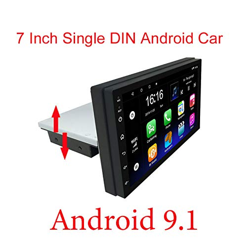 Binize 7 Inch Android System HD Single Din Touch Screen Car Stereo Radio Multimedia in Dash AutoRadio(NO-DVD),GPS Navigation, Bluetooth,USB,WiFi,Mirror Link,Front&Backup Camera Input(2GB+16GB)