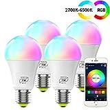 Ampoule WiFi LED E27, Compatible avec Alexa, 7W Intelligente Lumiere de...