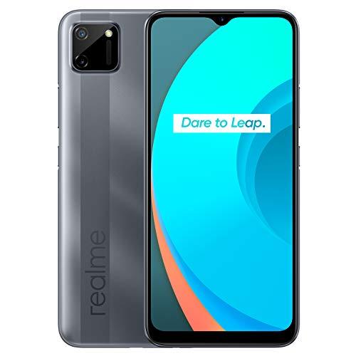 "realme C11 - Smartphone de 6.52"", 2 GB de RAM + 32 GB de ROM, Procesador Gaming MediaTek Helio G35, Doble cámara de 15MP, Dual Sim, Pepper Grey"