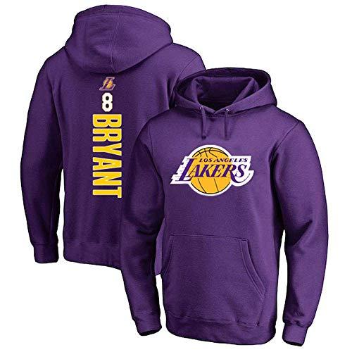 8# Kobe Bryant Felpa con Cappuccio da Basket, Basket Sportswear Felpa Allentata Moda t-Shirt per ragazzi-C2-XL