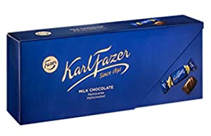 Karl Fazer Milk Chocolate first appeared in 1922 in its famous blue wrapper, symbolising the nature of Finland.The iconic colour together with Karl Fazer signature stand for taste and quality. All Karl Fazer chocolate is made using the finest Arriba ...