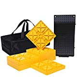 Homeon Wheels Camper Leveling Blocks, One Top Tire Saver Ramps and 9 Pack Interlocking Leveling...