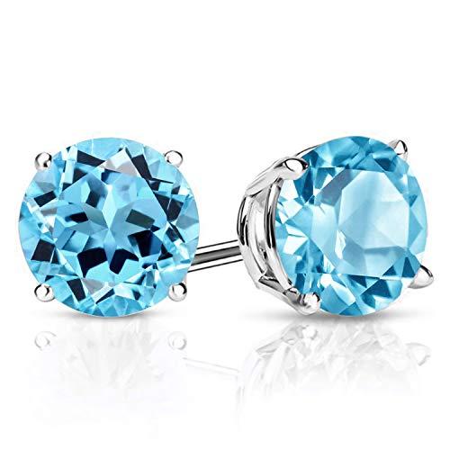 Gem Stone King 925 Sterling Silver Swiss Blue Topaz Gemstone...