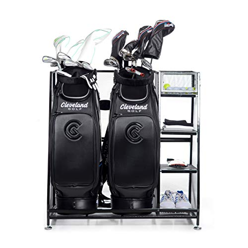 Milliard-Golf-Organizer-Extra-Large-Size-Fit-2-Golf-Bags-and-Other-Golfing-Equipment-and-Accessories-in-This-Handy-Storage-Rack-Great-Gift-Item
