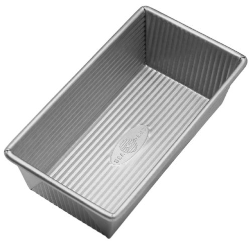 USA Pan Bakeware Aluminized Steel Loaf Pan, 1 Pound, Silver