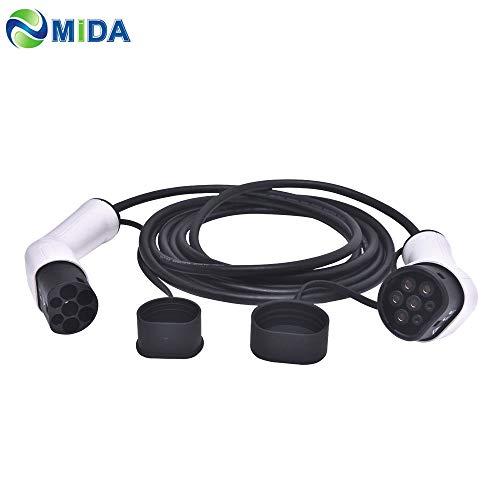 ETE ETMATE Cables de Carga - Tipo 2 a Tipo 2 - 32A - Trifásico - 22KW - 5 metros