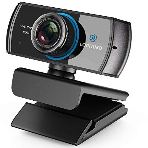 LOGITUBO HD Webcam 1080P Telecamera Live Streaming con Doppio Microfono Web Cam Funziona con Xbox One/PC/MacBook Supporto OBS/Facebook/Youtube