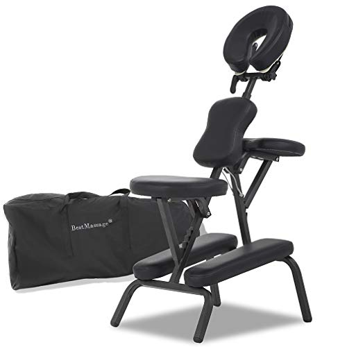 Portable Massage Chairs Tattoo Chair Therapy Chair 4 Inches Thickness Sponge Height Adjustable Folding Massage Chair Face Cradle Salon Massage Chair SPA Chair Carring Bag