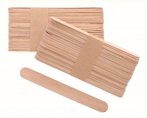 Glorex 6 2200 655 - Bastelhölzer, aus unlackiertem Birkenholz, in Form von Eisstäbchen, ca. 15 cm lang mit abgerundeten Enden, 80 Stück, vielseitig einsetzbar beim Basteln
