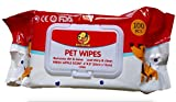 Foodie Puppies Wet Pet Wipes for Dogs, Puppies & Pets with Fresh Apple Scent 6'x 8' - Pack of 100 Wipes