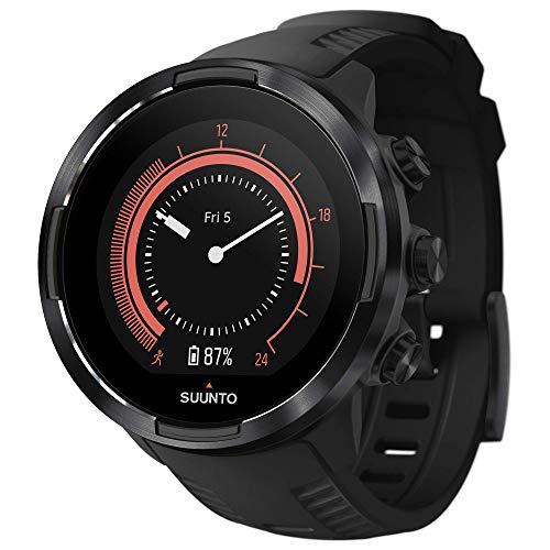 Suunto 9 Baro GPS-Sportuhr mit langer Batterielaufzeit und Herzfrequenzmessung am Handgelenk, Schwarz, SS050019000