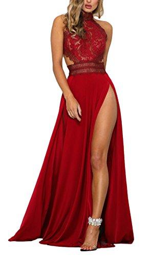 Mujer Vestidos De Fiesta Largos De Noche Elegantes Transpare