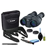 Canon 10x30 is II Image Stabilized Binocular Starters Bundle