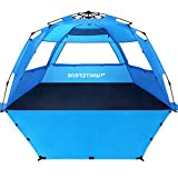 WhiteFang Deluxe XL Pop Up Beach Tent Sun Shade Shelter for 3-4 Person, UV Protection, Extendable...
