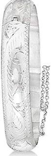 Brazalete de lujo con bisagras en plata lisa