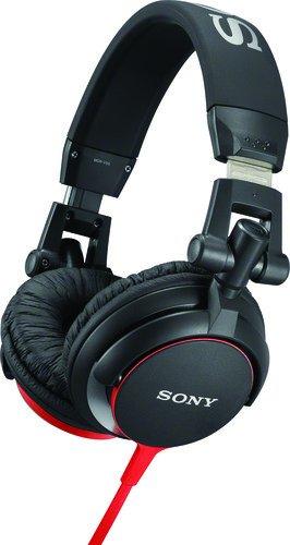 Sony MDR-V55 Cuffie Chiuso DJ, 105 dB, 40 , Nero/Rosso