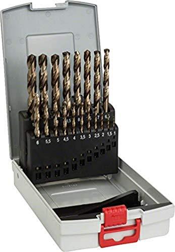 Bosch Professional Set Probox Con 19 Brocas Para Metal Hss-Cobalto (Para Acero Inoxidable, Accesorios Para Taladro Atornillador)