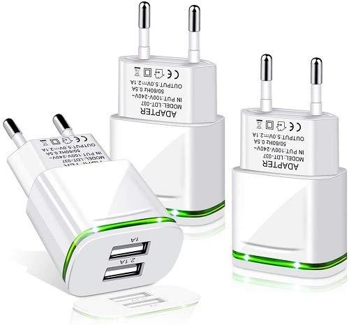 LUOATIP USB Ladegert Stecer 4.8A 5-Pack Ladeadapter 5 Ports Netzteil Adapter Stromadapter Netzstecker Steckdose Ladestecker kompatibel für iPhone 11 XR X XS Max 8 7 6 6S Plus 5S, Apple