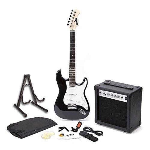 Rockjam Schermo Intero Chitarra Elettrica Superkit con Il Caso Cinghia della Chitarra Guitar Tuner...